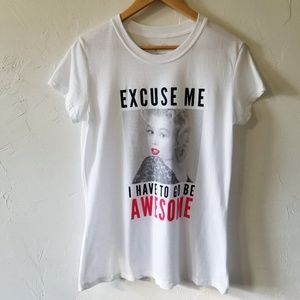 NWOT Marilyn Monroe Graphic White T-shirt Size 1X